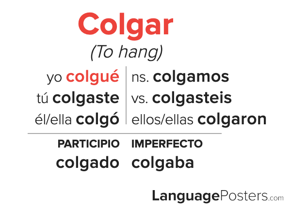 Colgar Preterite Tense Conjugation