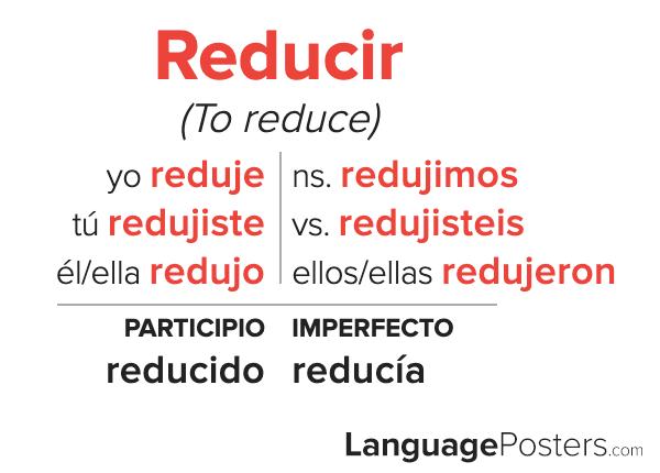 Reducir Preterite Tense Conjugation
