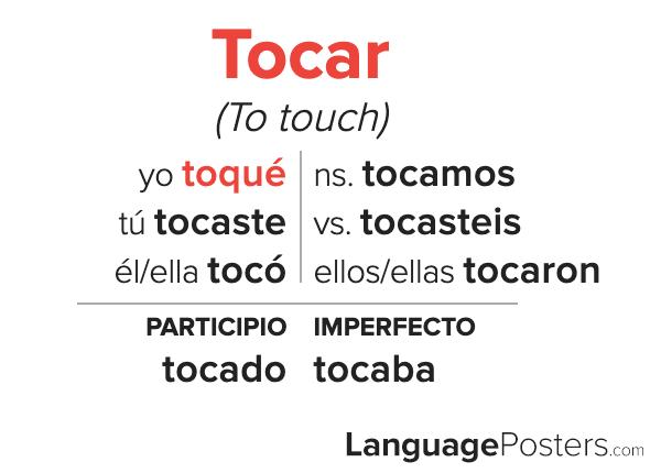 Tocar Preterite Tense Conjugation