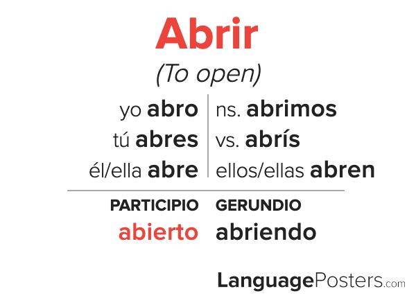 Abrir Conjugation
