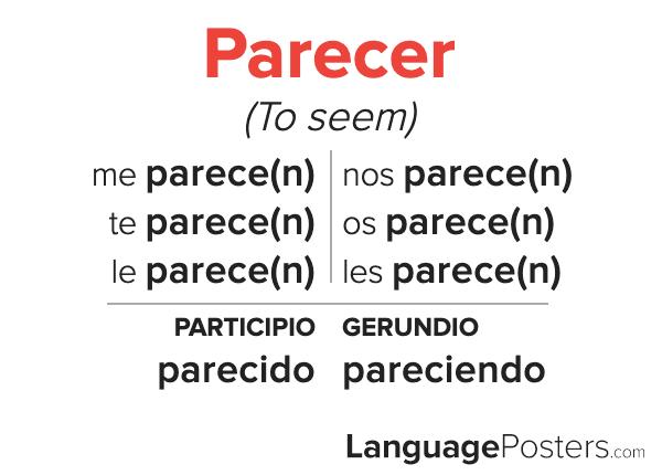 Parecer Conjugation