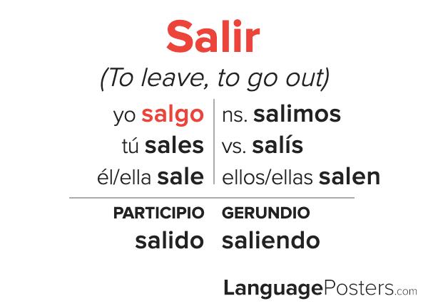 Salir Conjugation